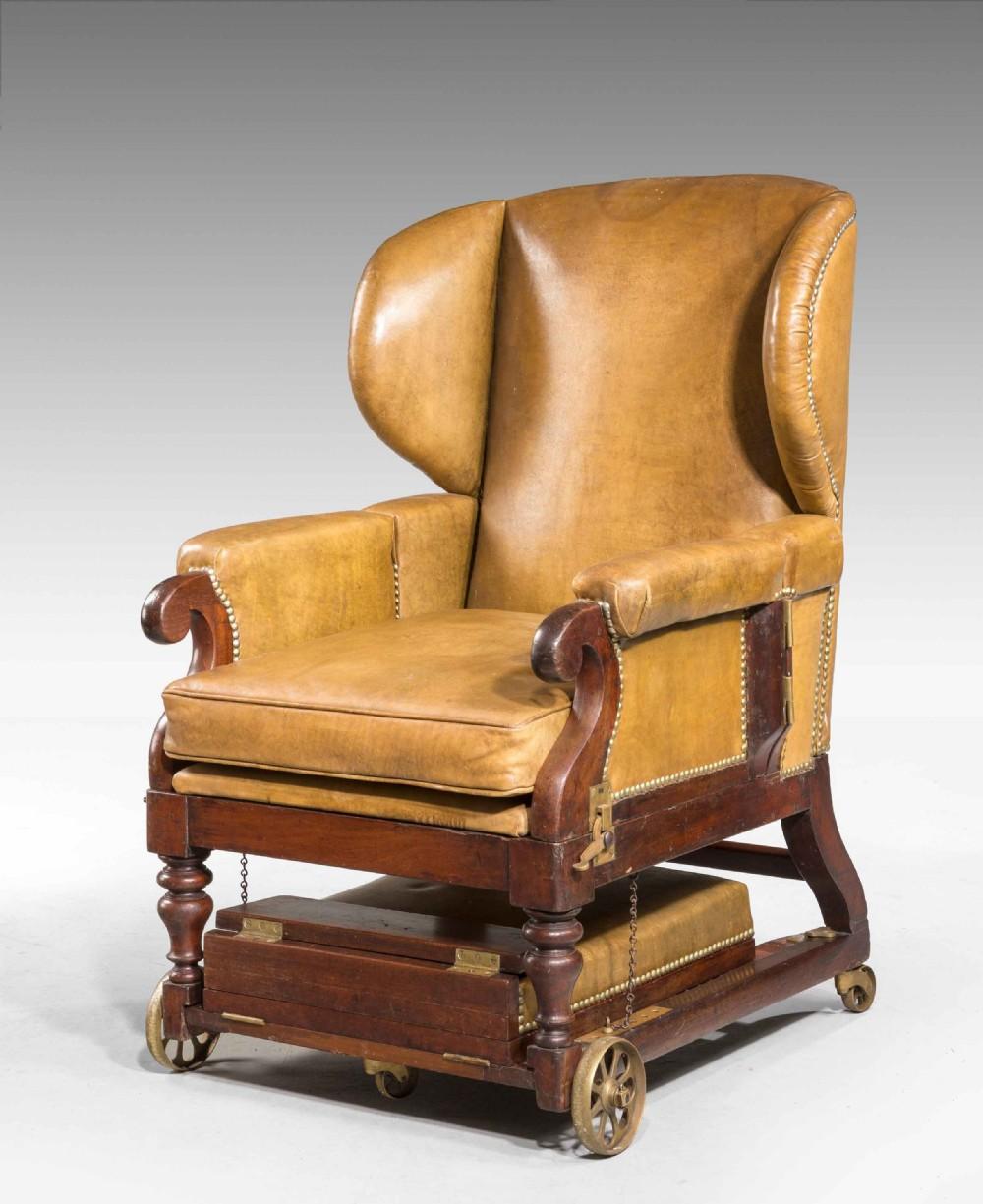 19th century invalids' chair stamped j ward