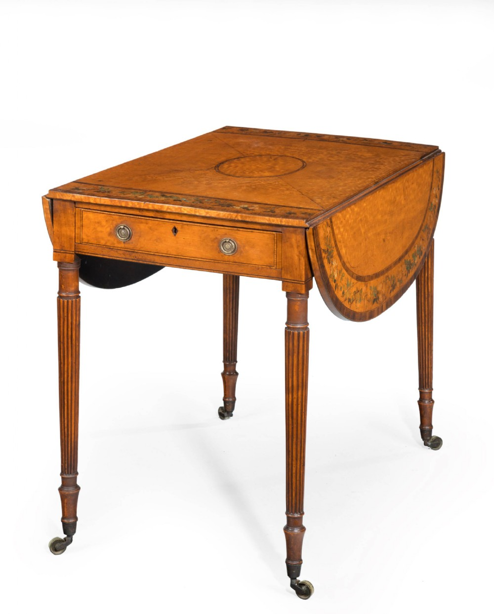a small george iii period satinwood pembroke table