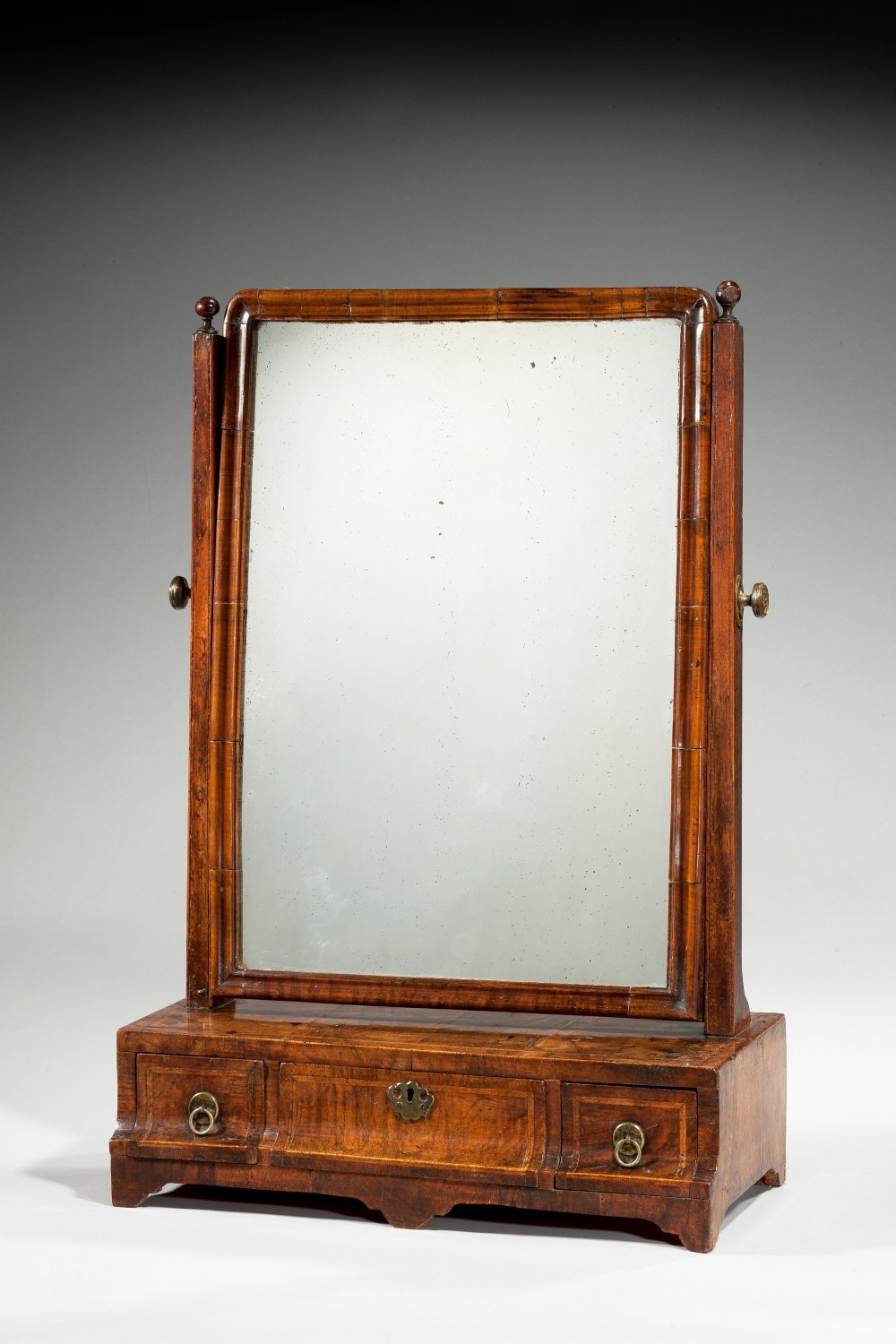 early 18th century walnut dressing mirror