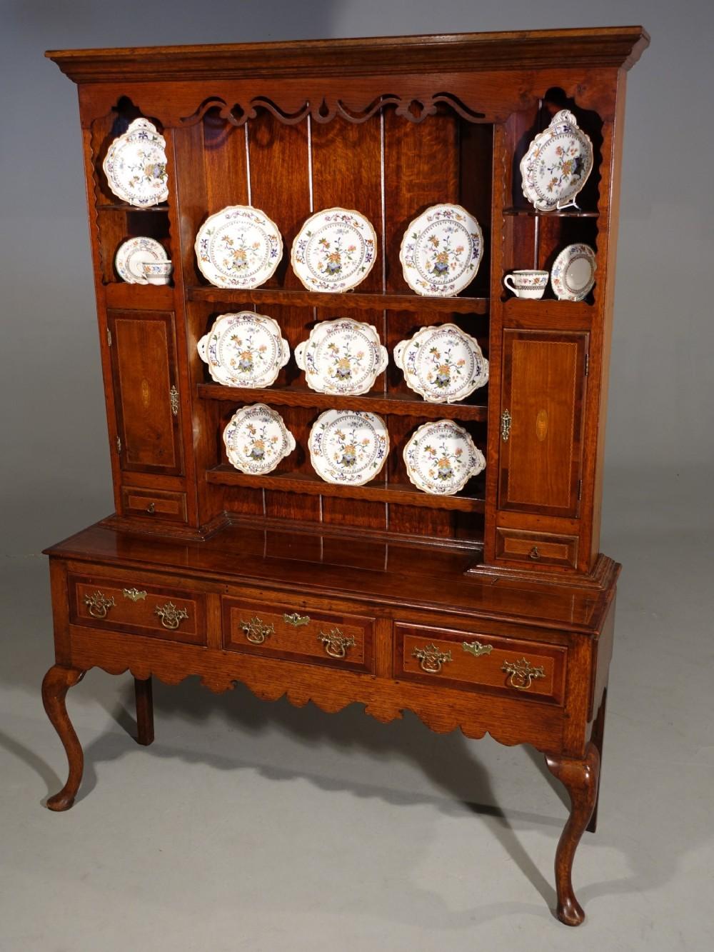 a fine quality late 19th century oak dresser and rack