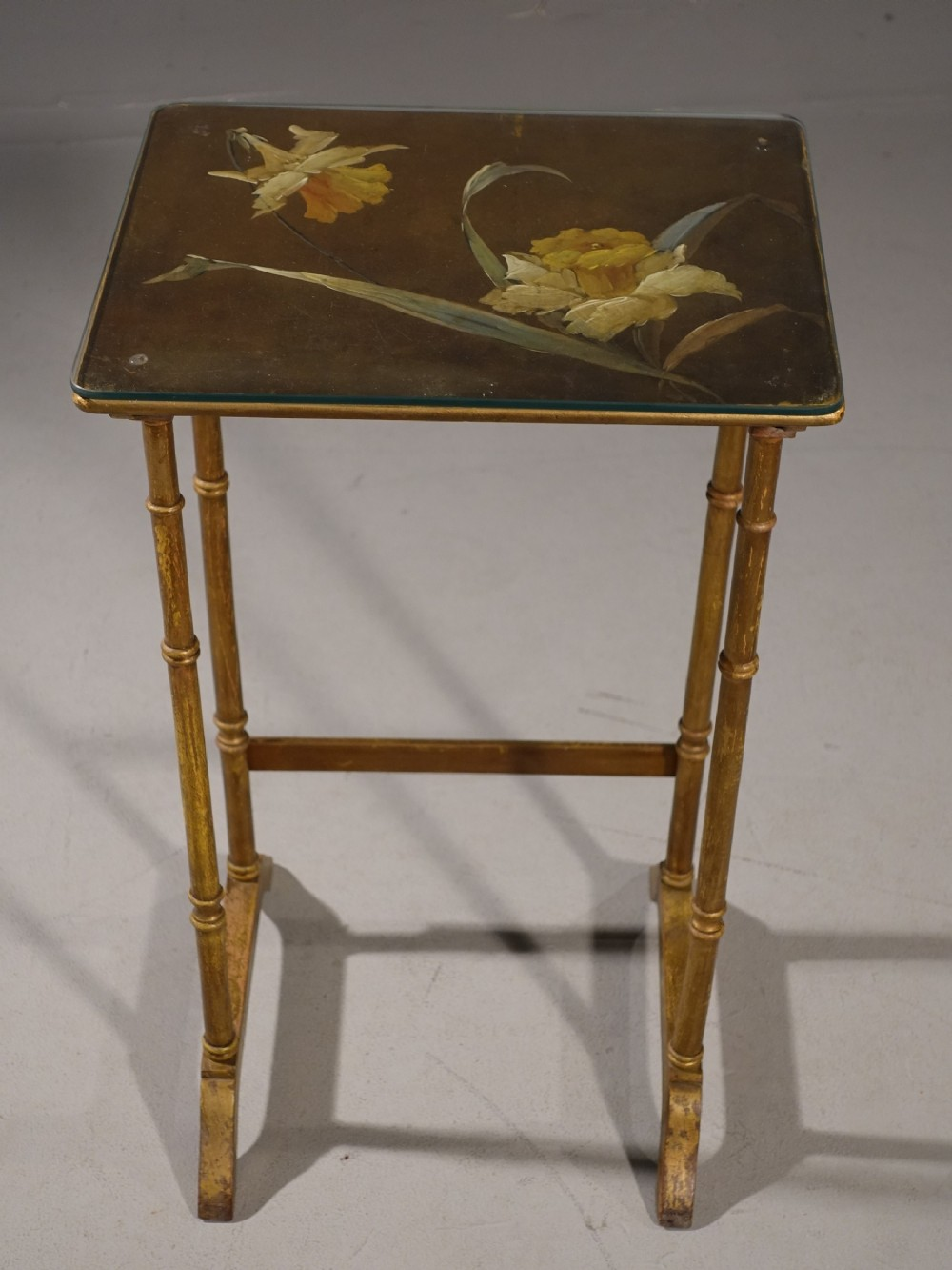 an elegant late 19th century giltwood occasional table