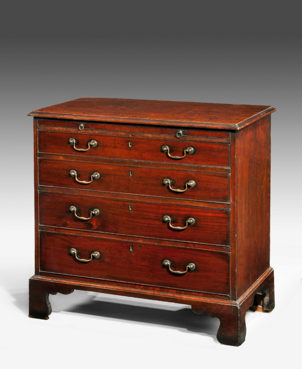 george iii period mahogany chest of drawers of small size