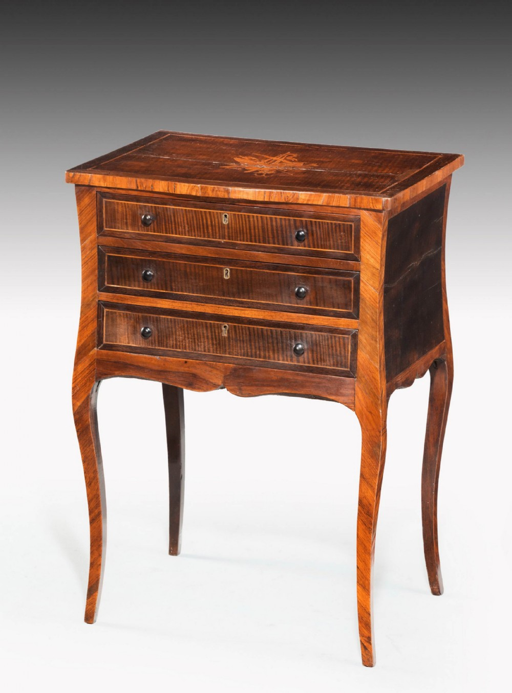 late 18th century partridge wood petite commode