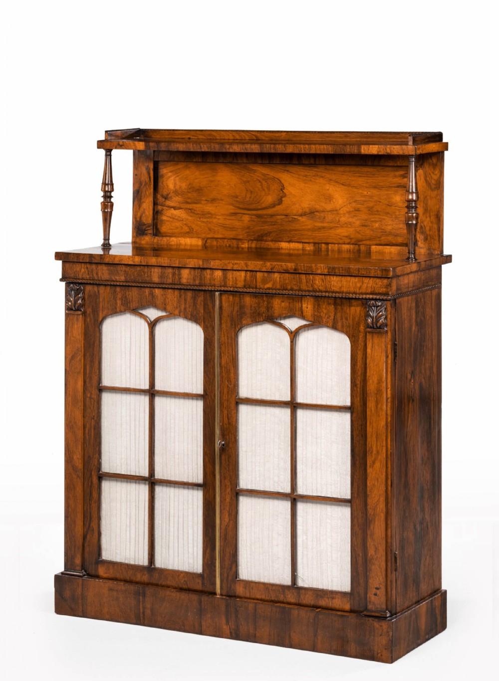 an attractive regency period twodoor chiffonier