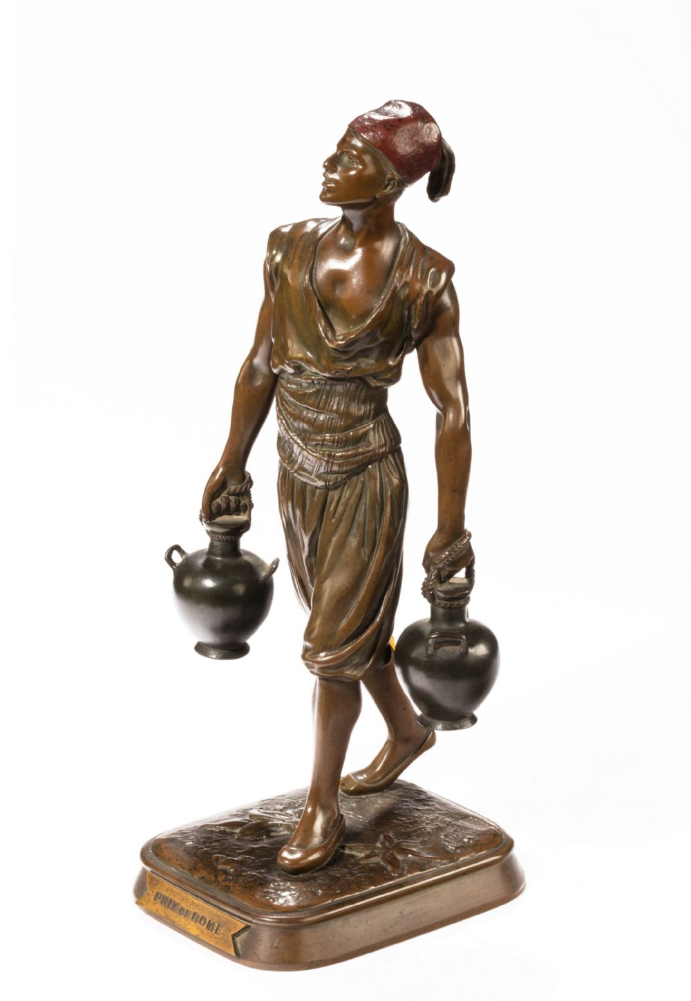 late 19th century bronze model of a berber by emile pinedo paris