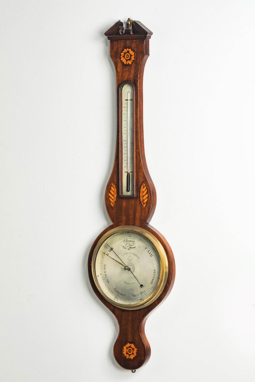 george iii period mahogany barometer by ceser scalfini