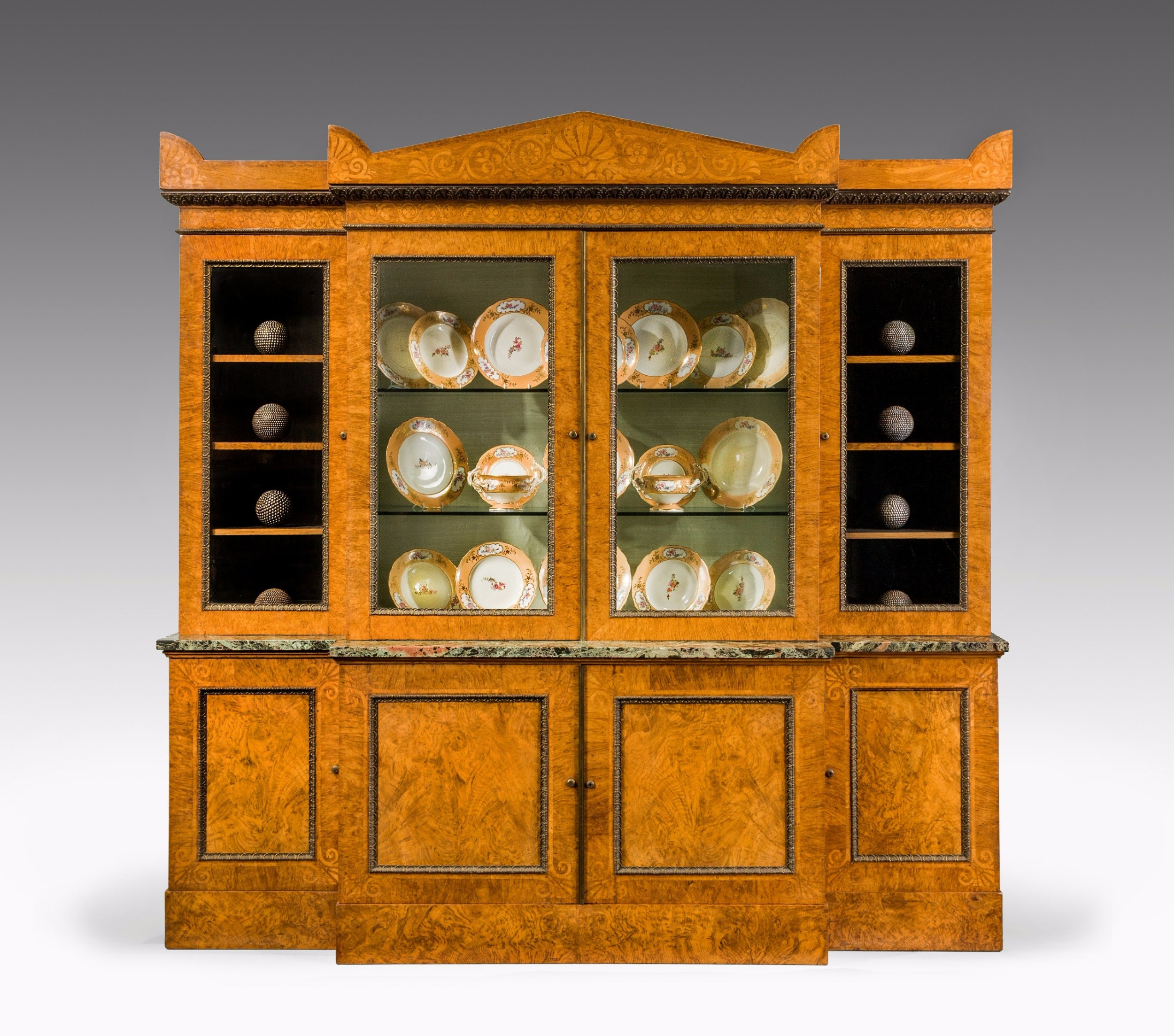 19th century oak breakfront bookcase attributed to g bullock