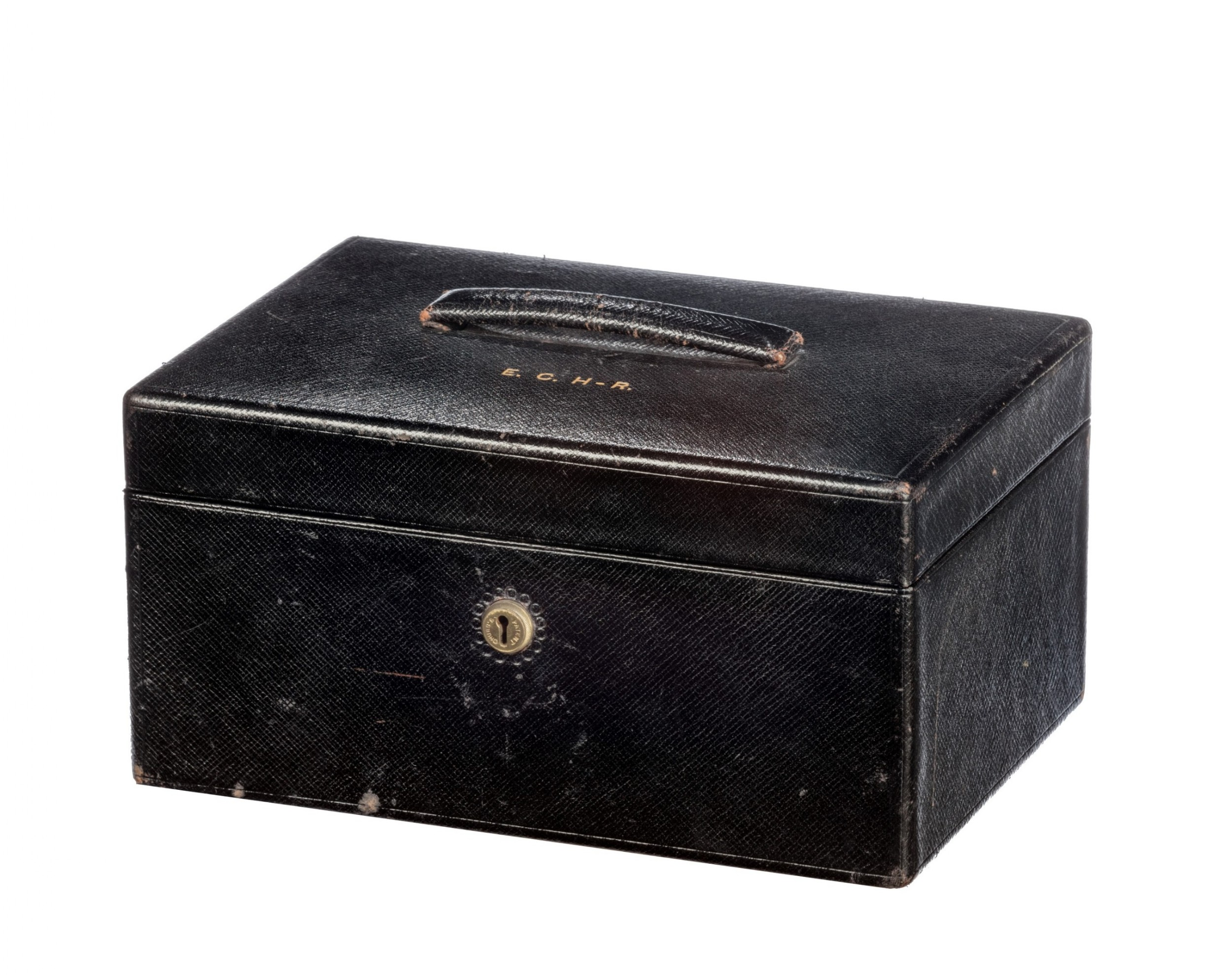 late 19th century leather jewellery box