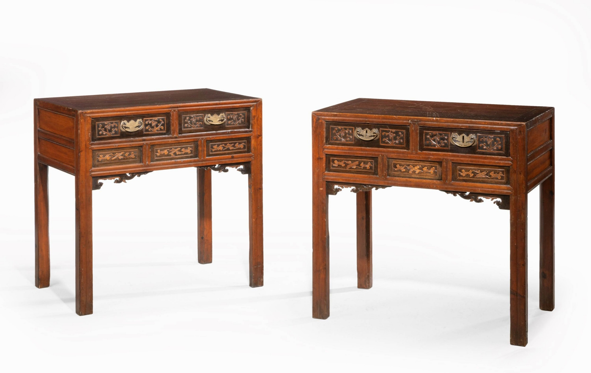 pair of late 19th century chinese side tables