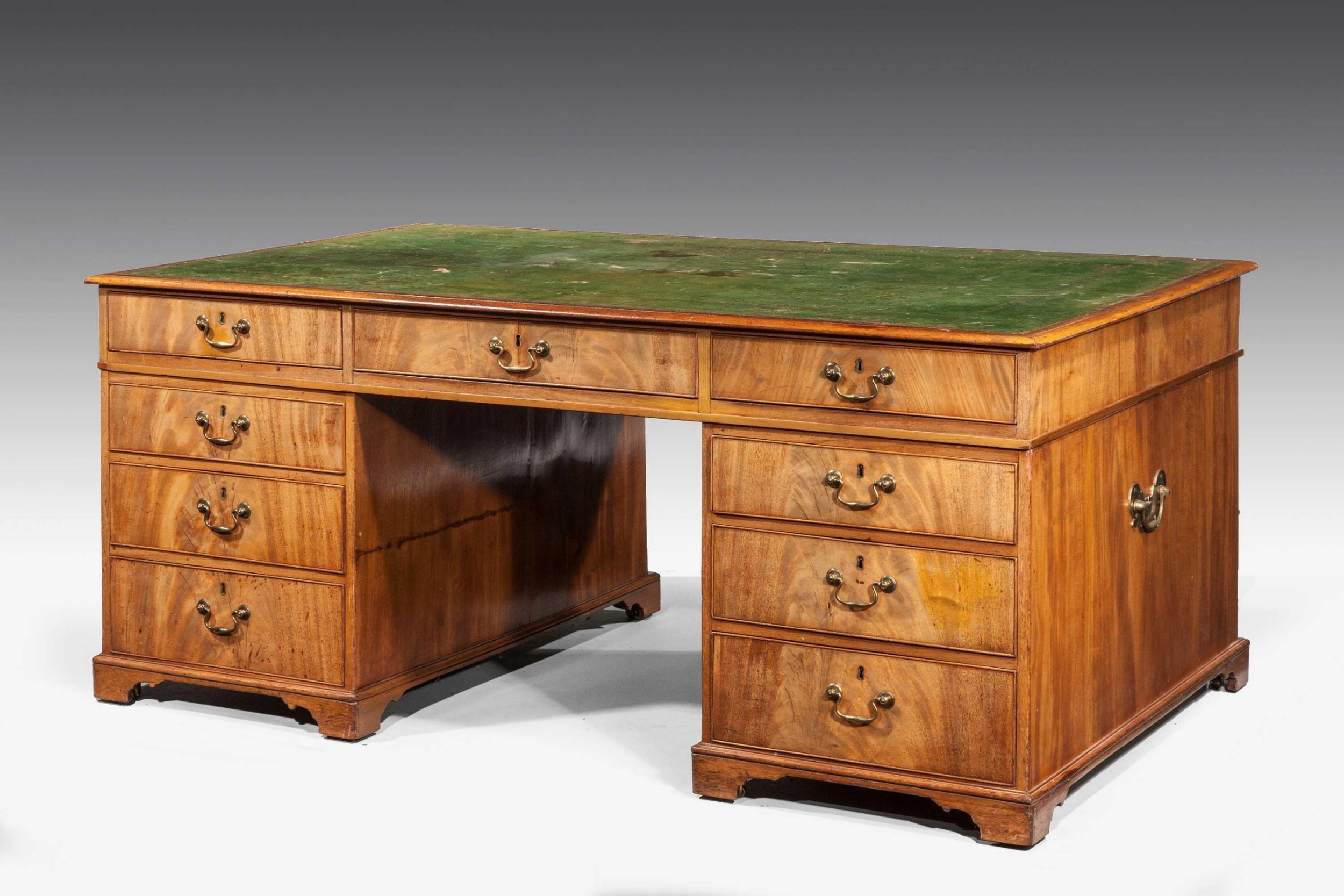 regency period mahogany partners desk