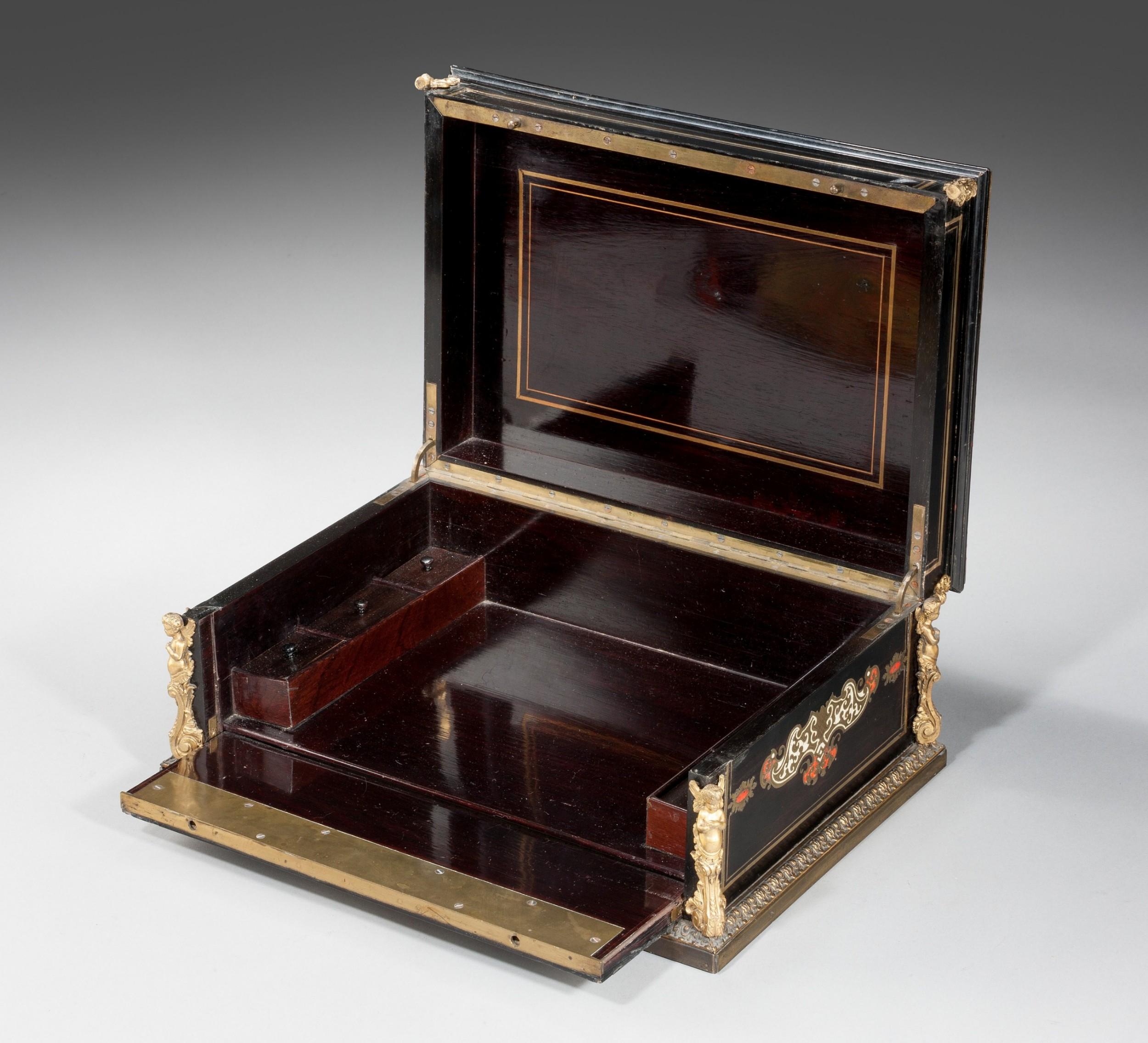 mid 19th century french ebonized box