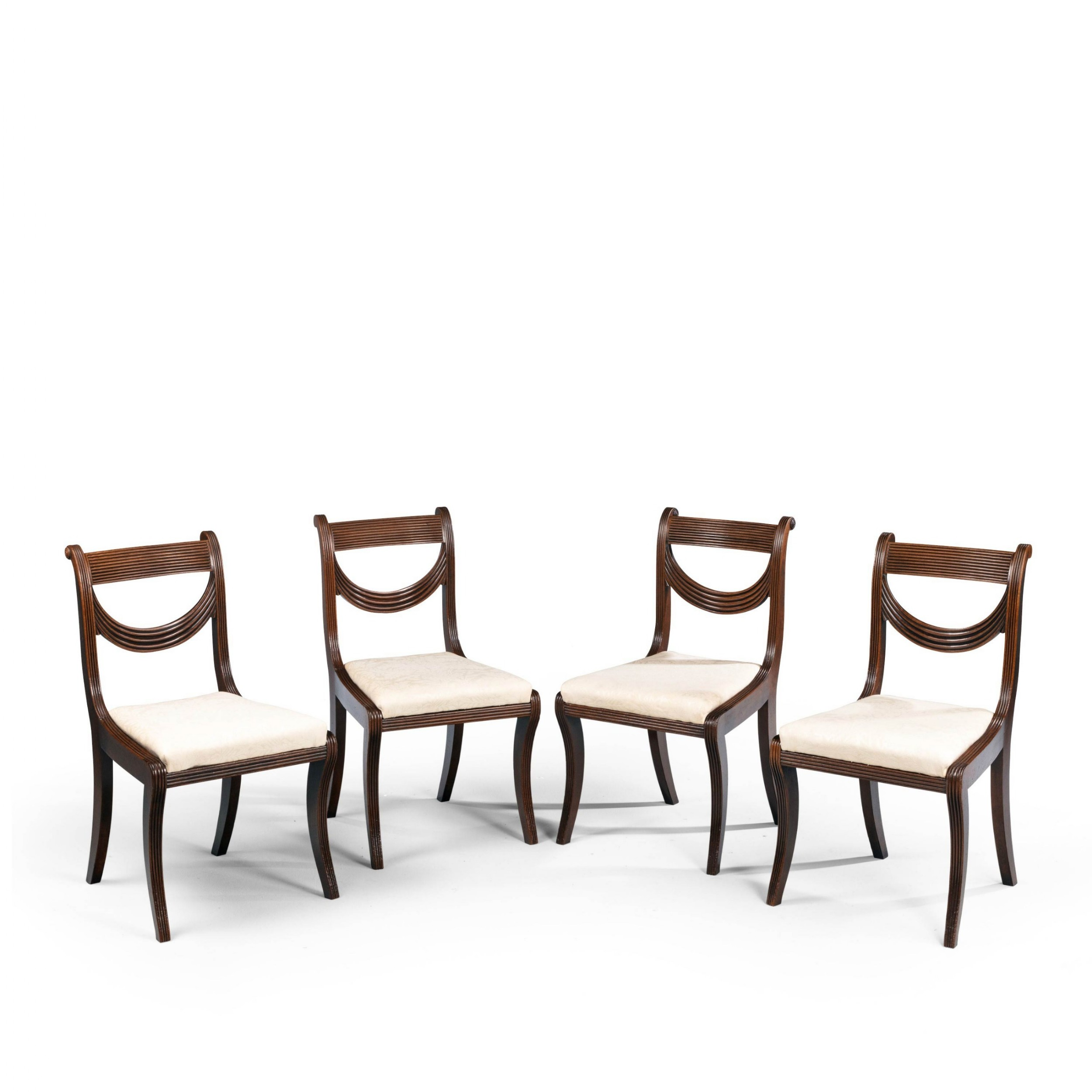 an attractive set of four regency period chairs