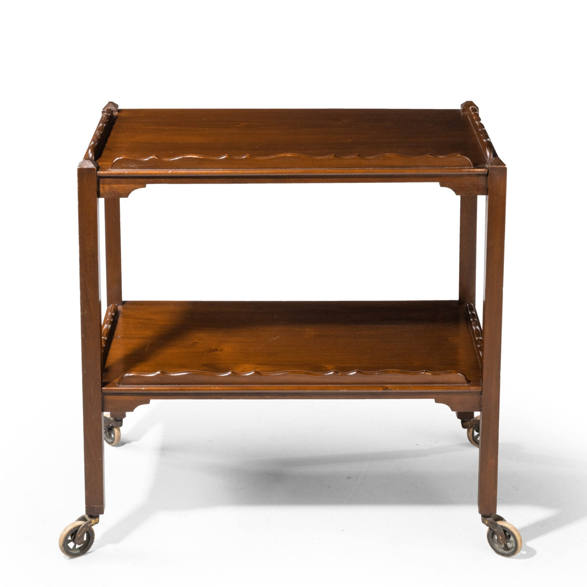 an early 19th century mahogany trolley or dinner wagon