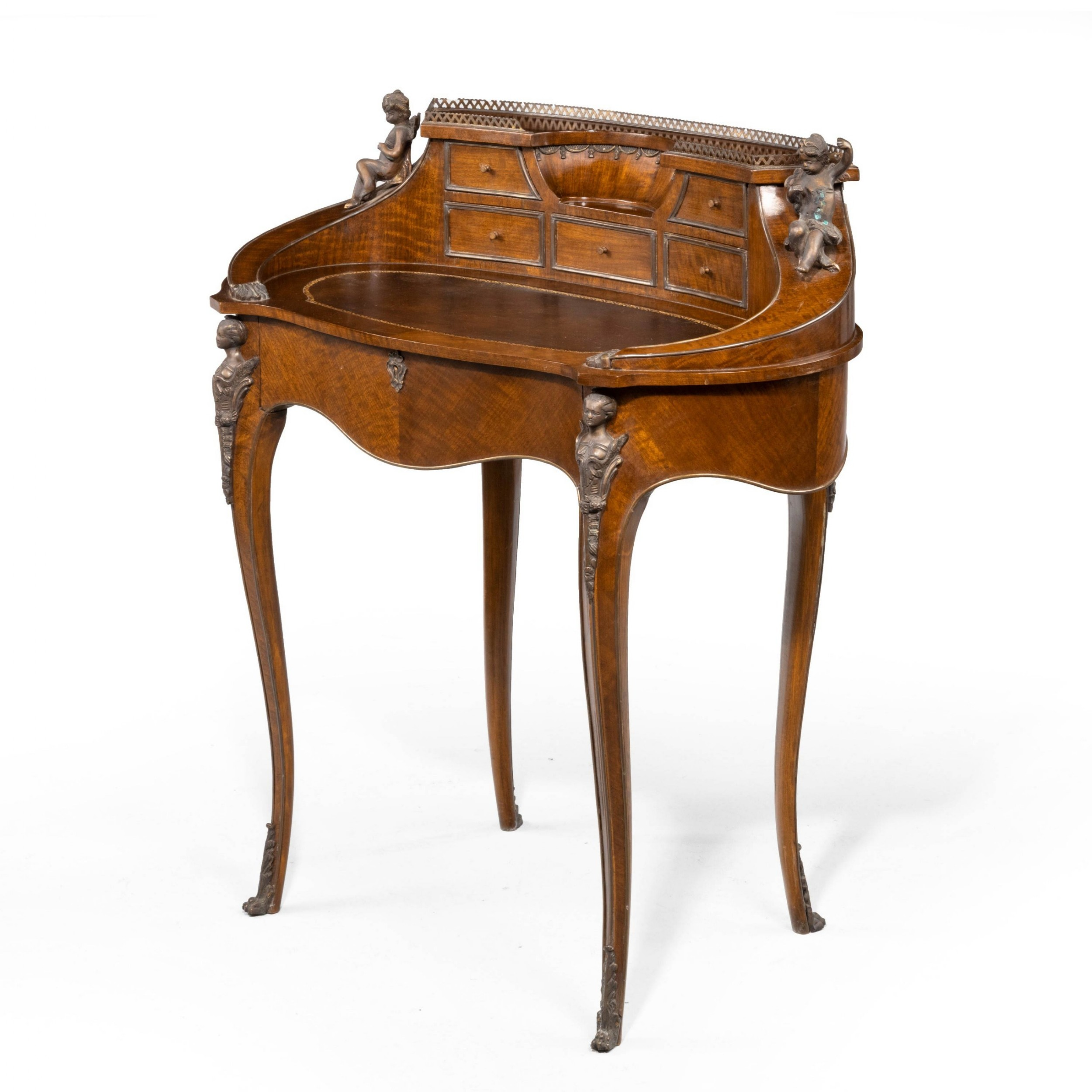 a beautifully figured late 19th century french bureau de dame