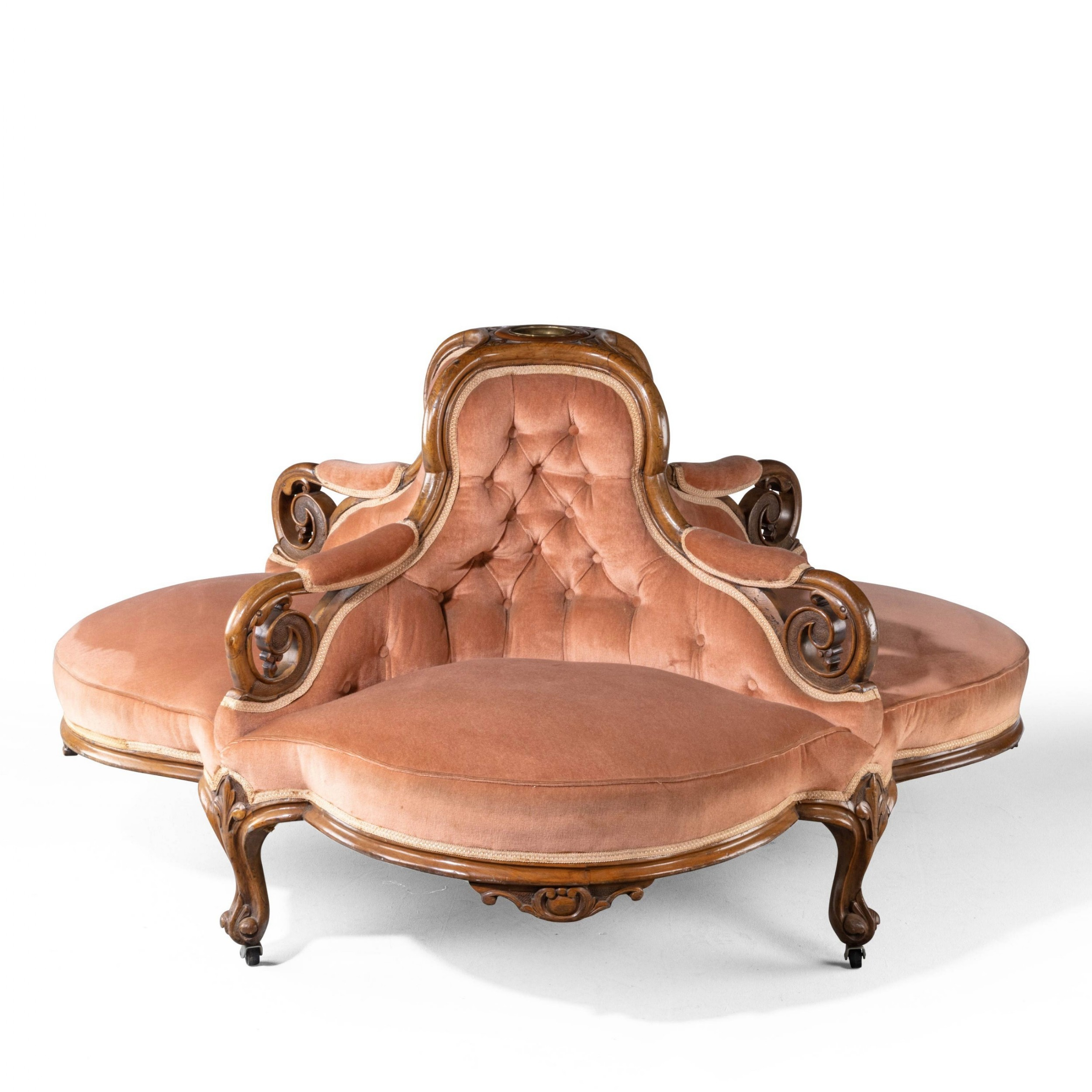 a very shapely late 19th century french conversation seat
