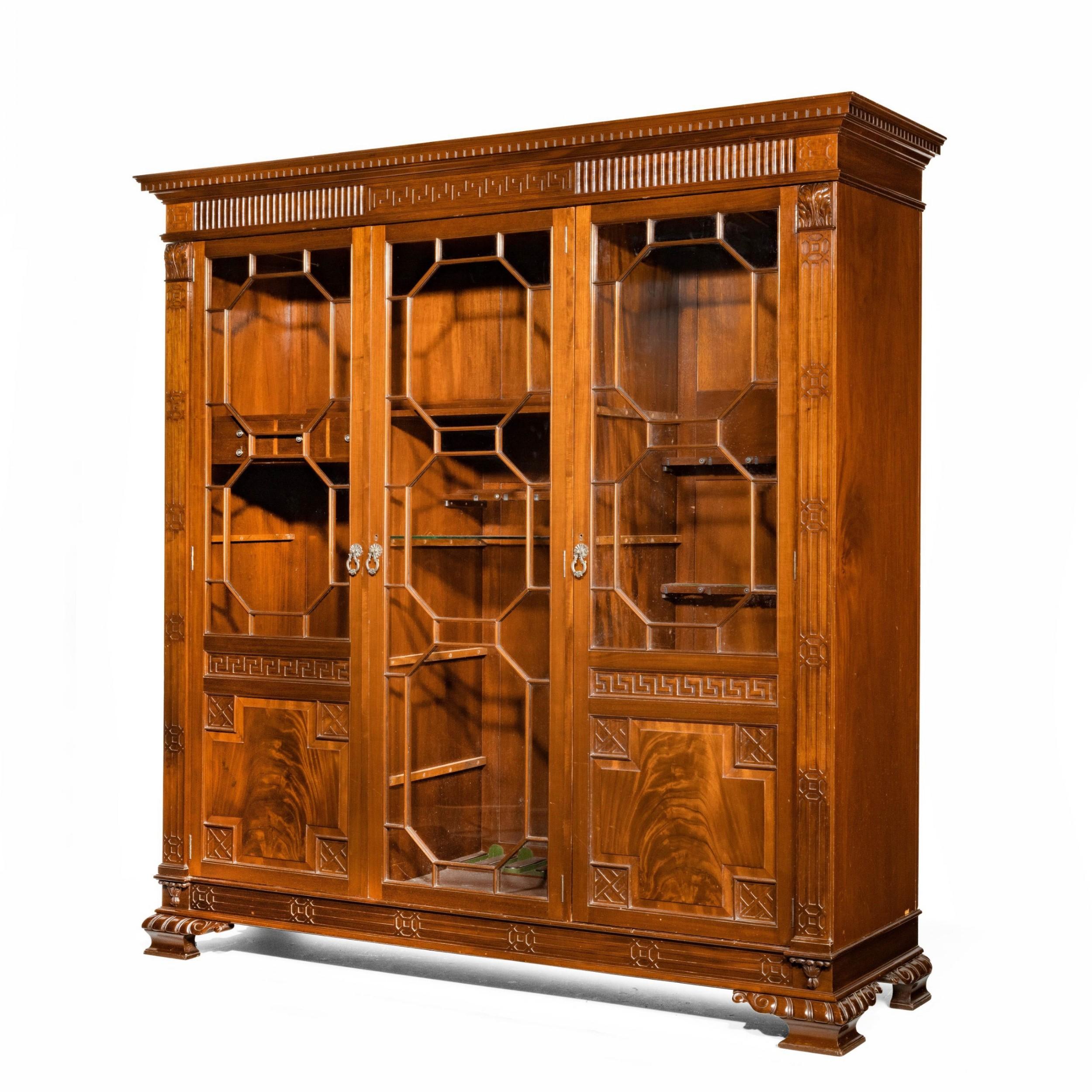 a early 20th century mahogany gun display cabinet