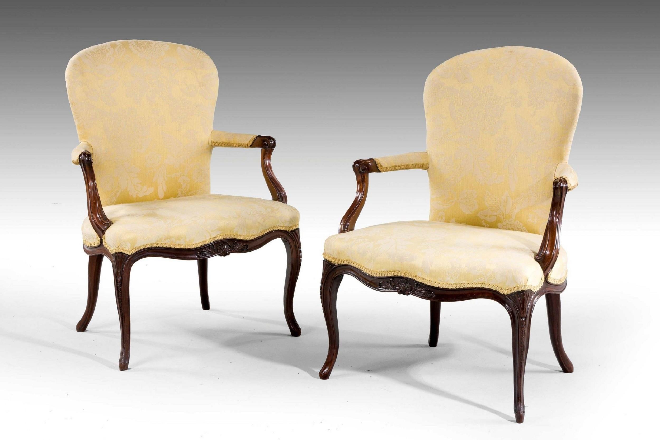 pair of george iii period armchairs
