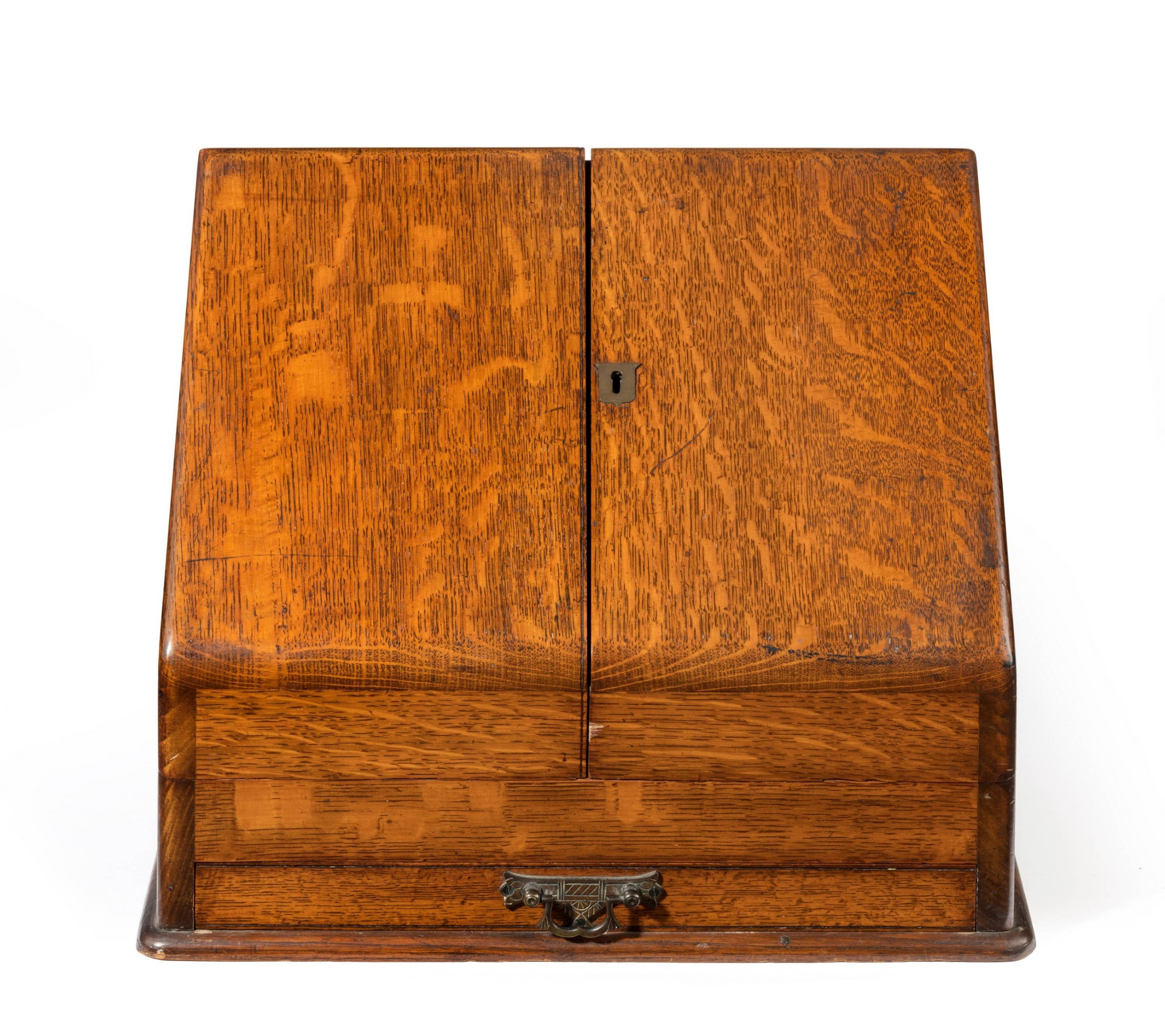 late 19th century oak travelling cabinet