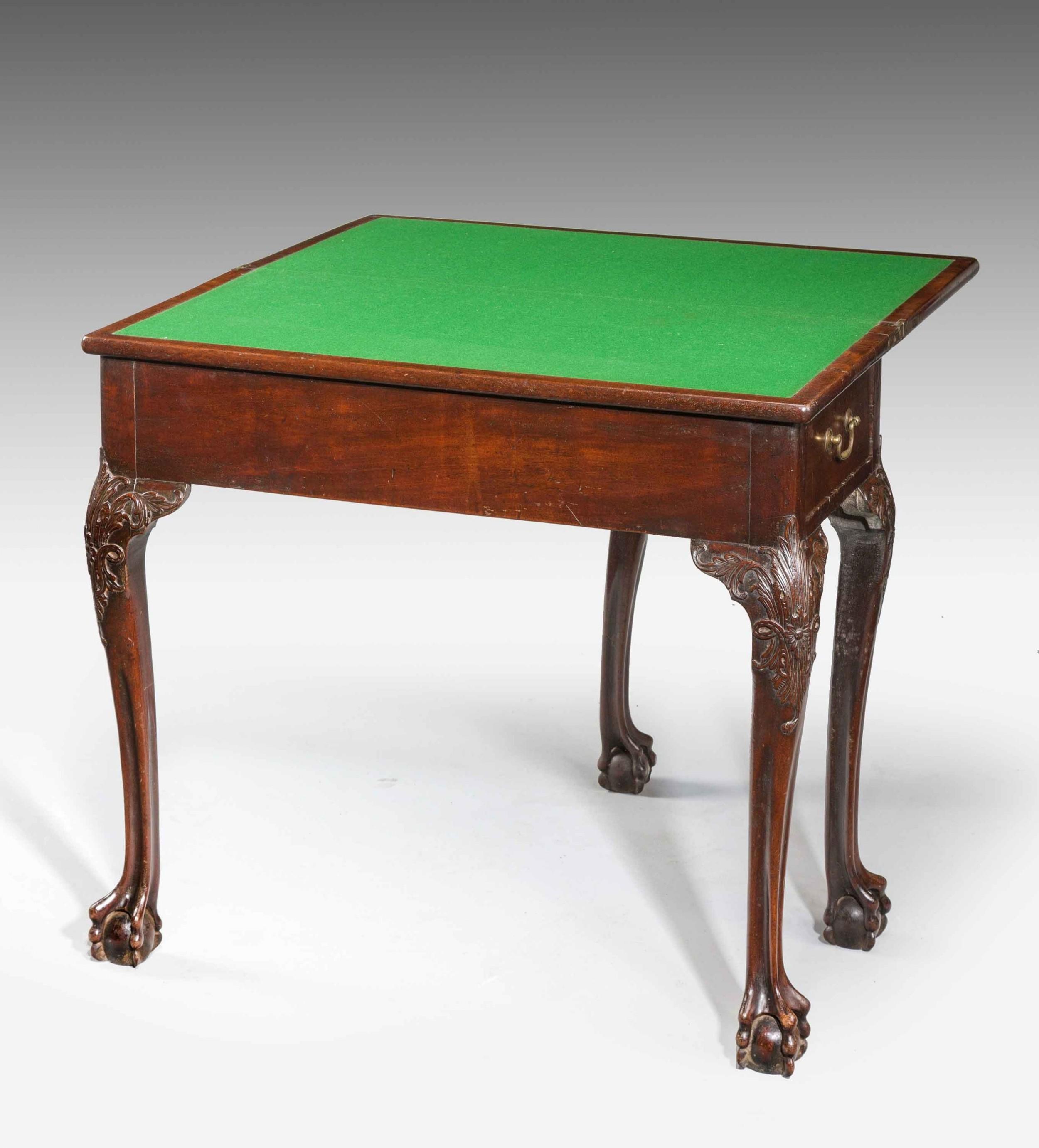 mid 18th century mahogany card table