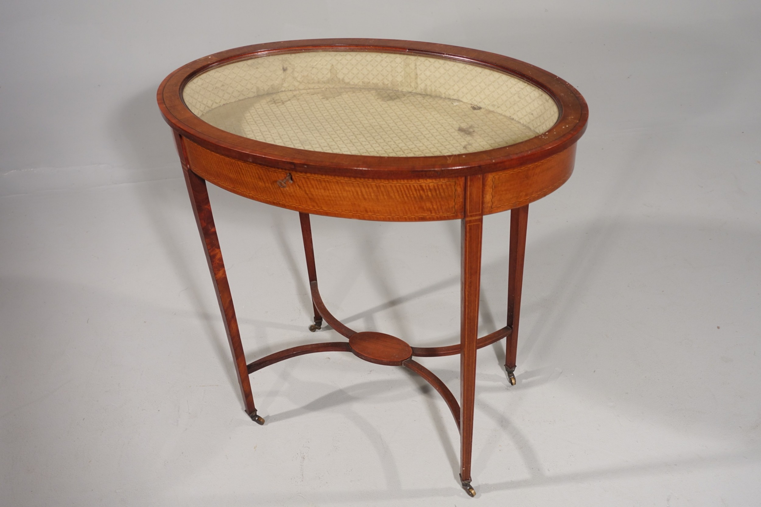 an edwardian period oval mahogany bijouterie table