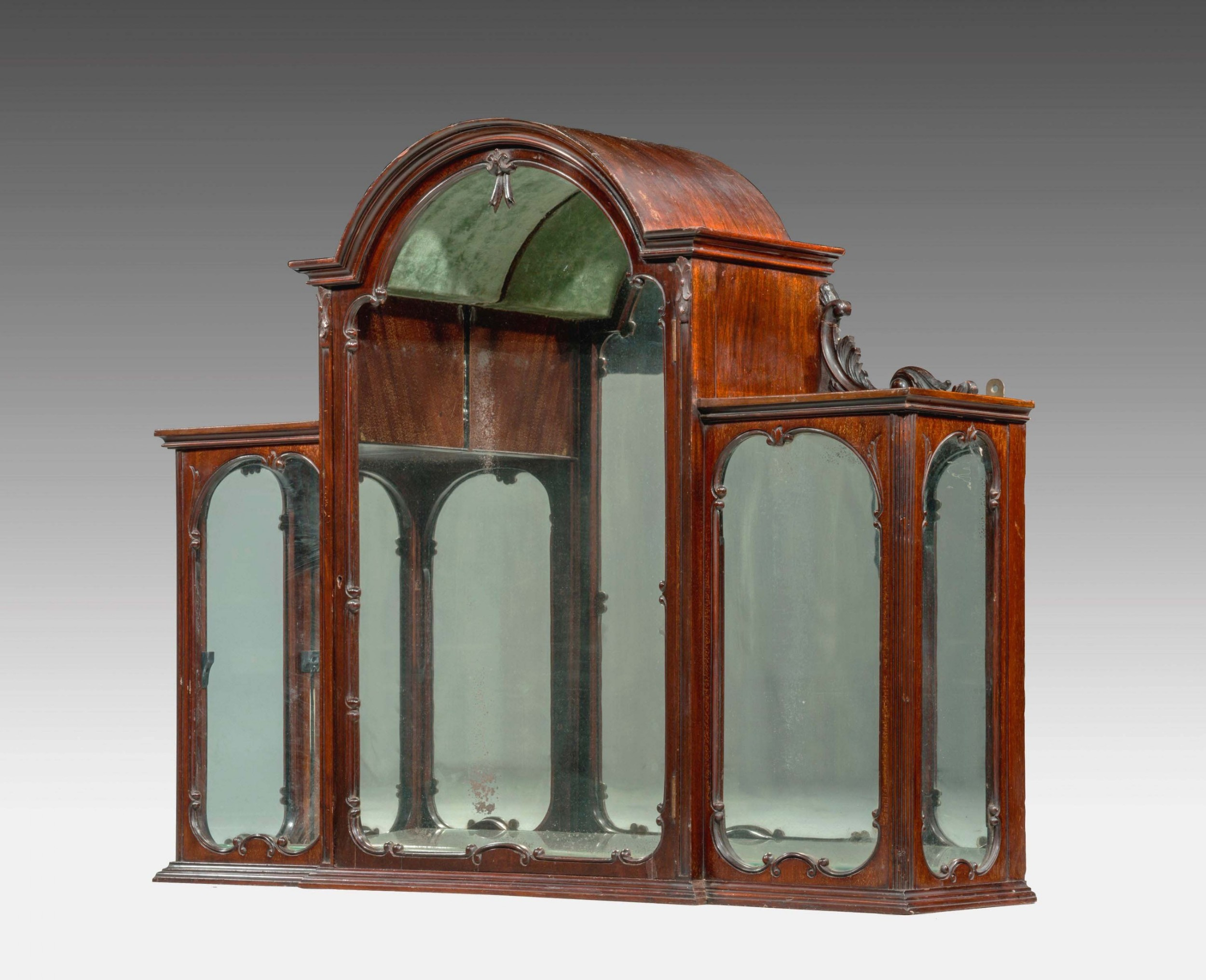 late 19th century hanging display cabinet