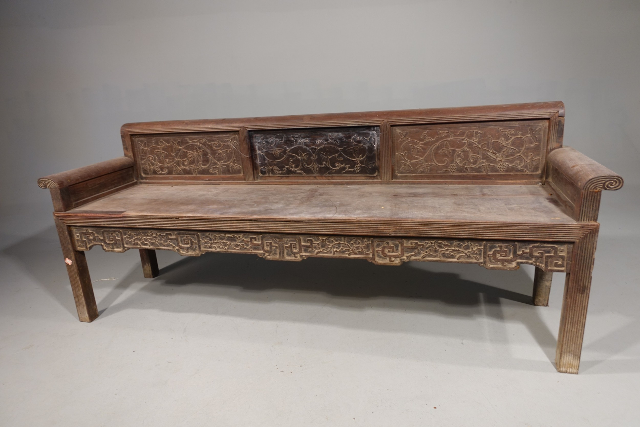 a quite rare early 20th century hardwood bench