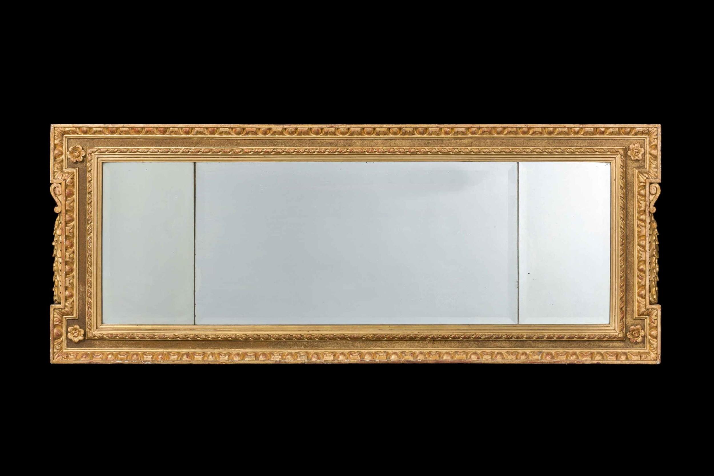 18th century parcel gilt landscape mirror