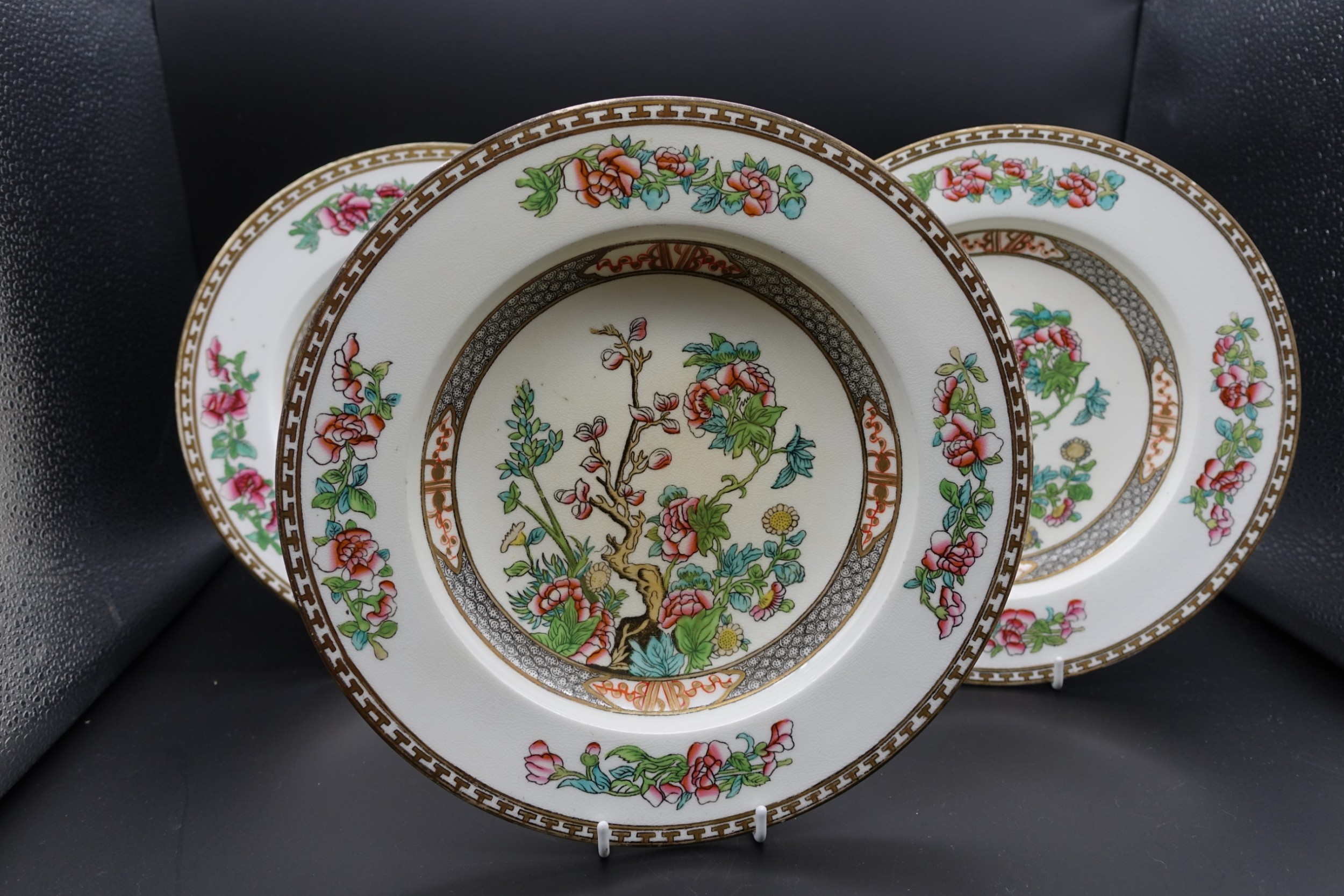 a set of 3 early 20th century coalport bowls