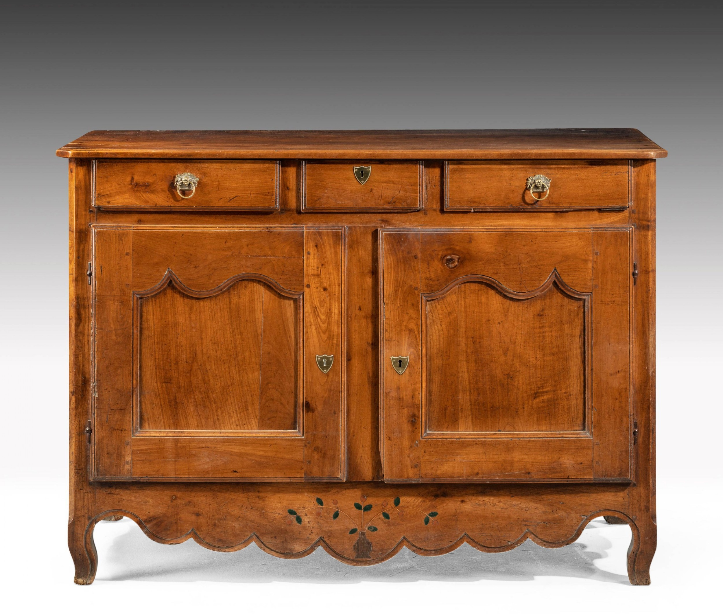 french 19th century two door cupboard in chestnut