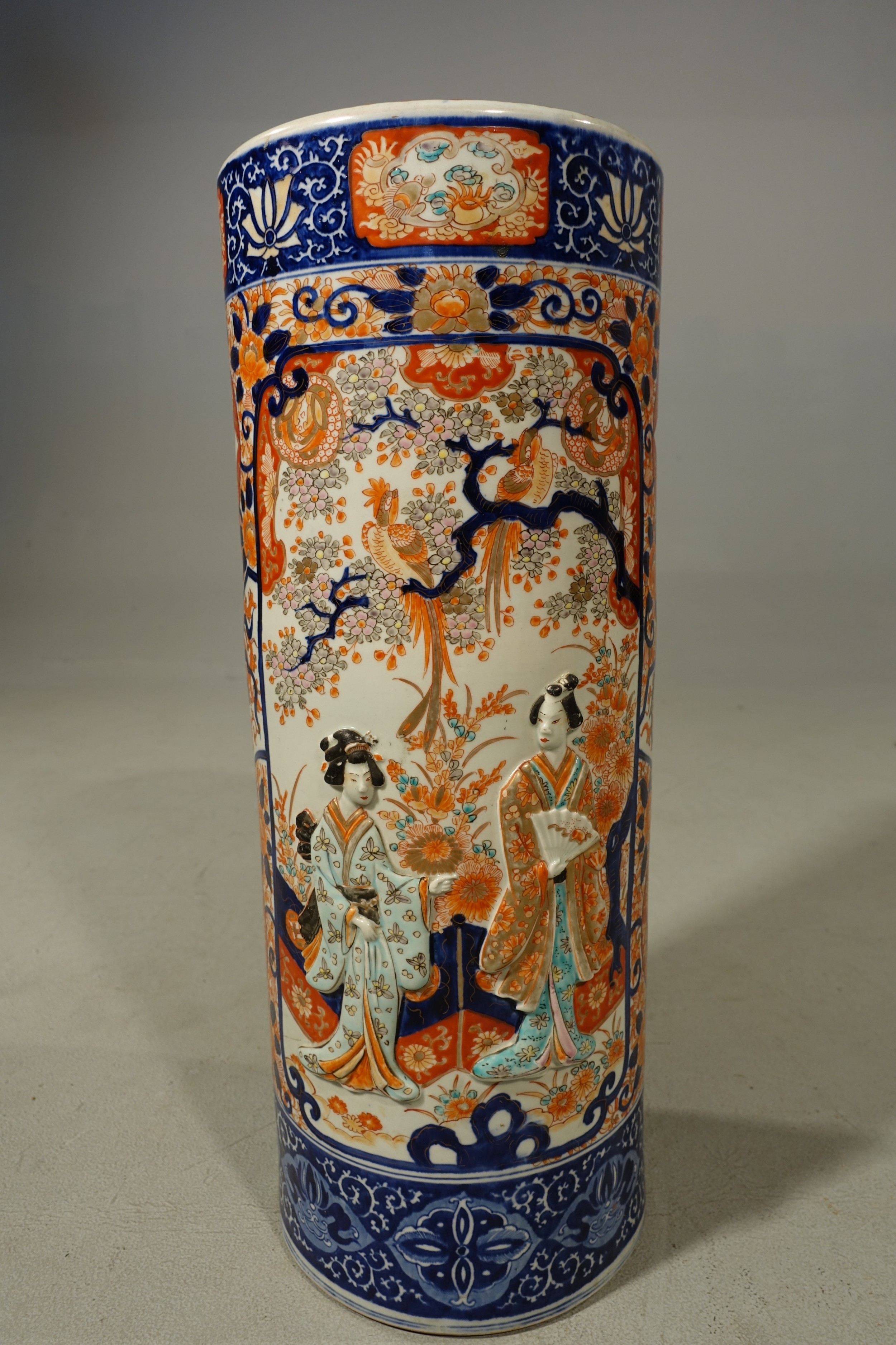 an exceptionally good late 19th century imari stick stand