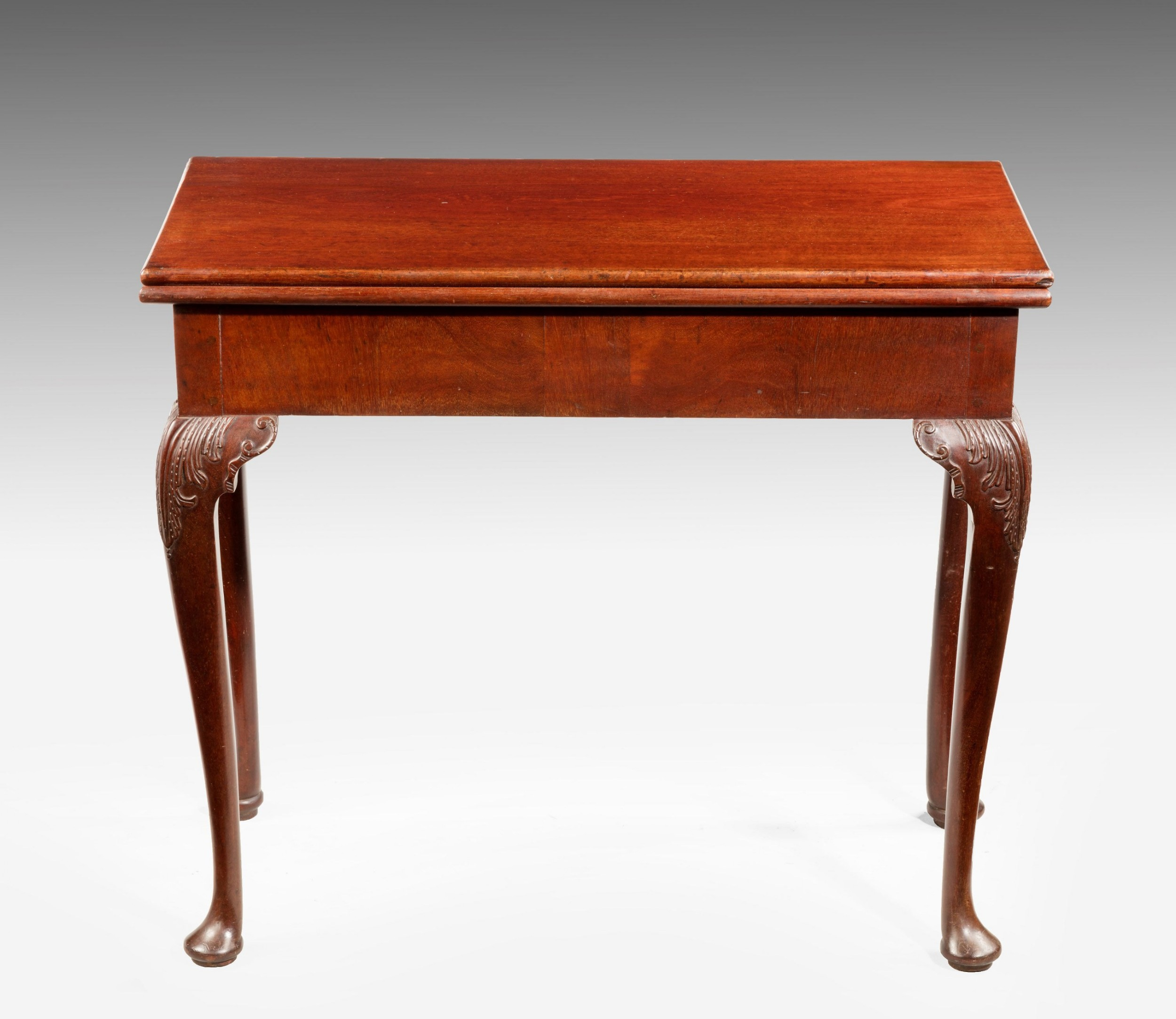 chippendale period mahogany card table