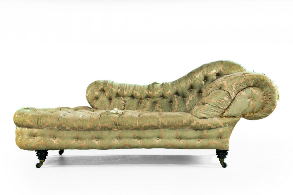 Mid 19th century mahogany framed chaise lounge for Antique chaise lounge prices