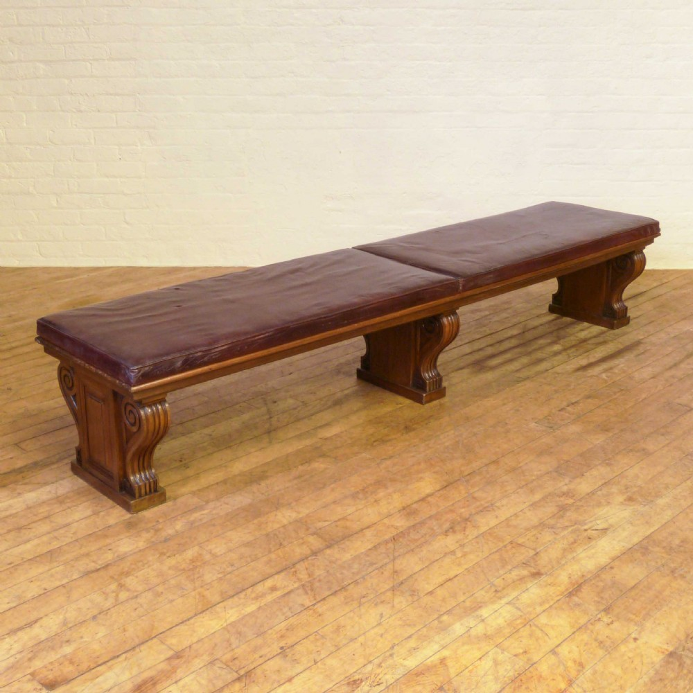victorian leather gallery seat
