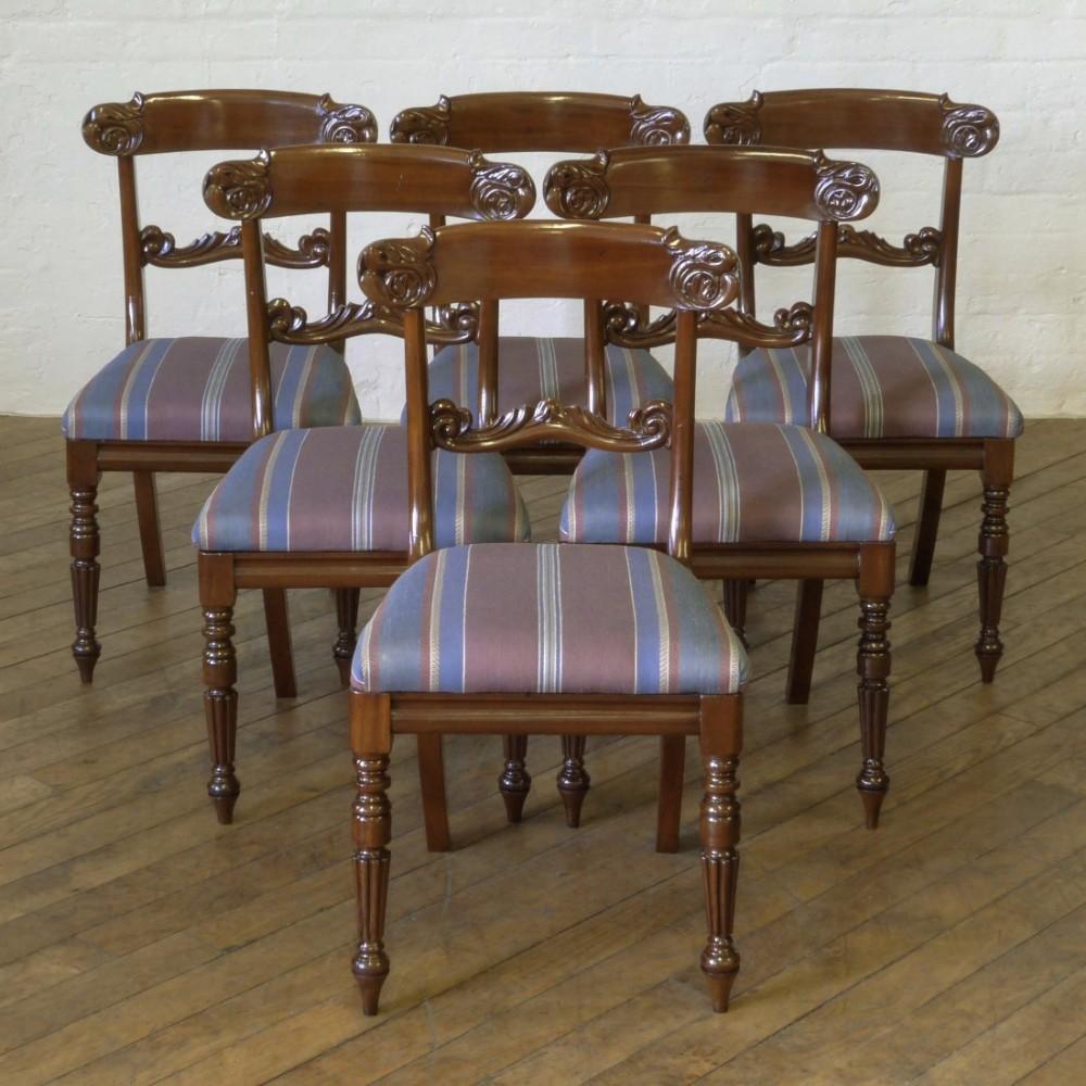 set of six william iv mahogany chairs