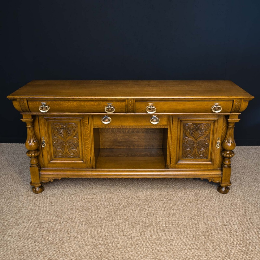 victorian oak dresser by james phillip and sons