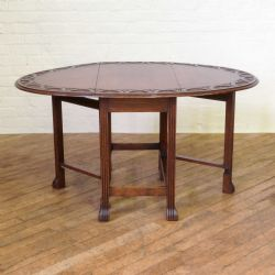 Moxhams Antiques · OAK GATELEG TABLE WITH REEDED LEGS. £595. Dated 1920
