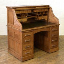 georgian antiques edwardian oak roll top desk dated edwardian