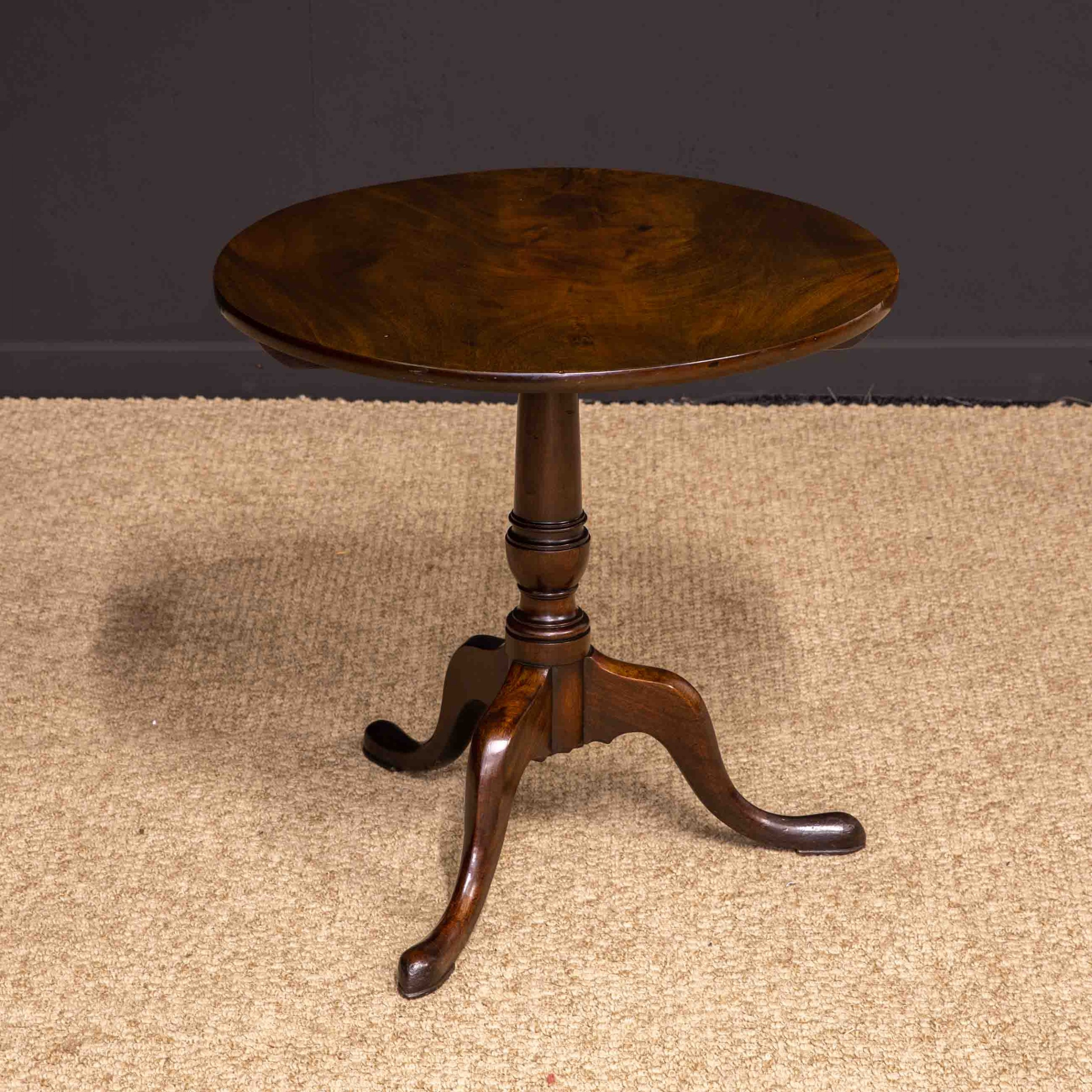 george iii mahogany canon barrel column tripod table