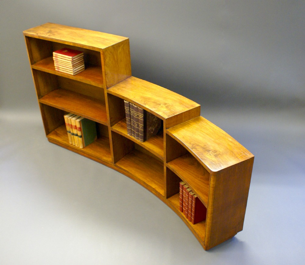An Unusual Curved Art Deco Bookcase 267258