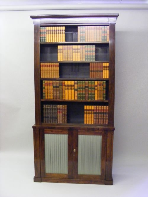 a william iv rosewood open bookcase