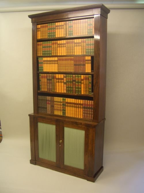 a william iv rosewood open bookcase - photo angle #2