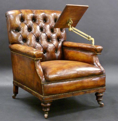 W.J. Gravener Antiques Ltd. - Antique Upholstered Reading Chairs - The UK's Largest Antiques Website