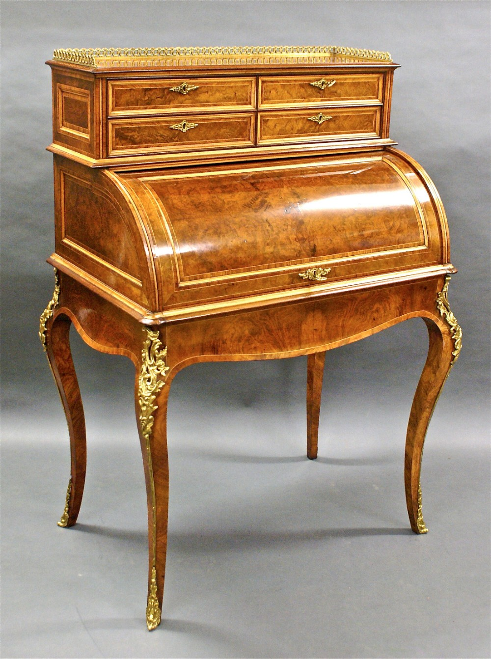 a superb quality english cylinder bureau