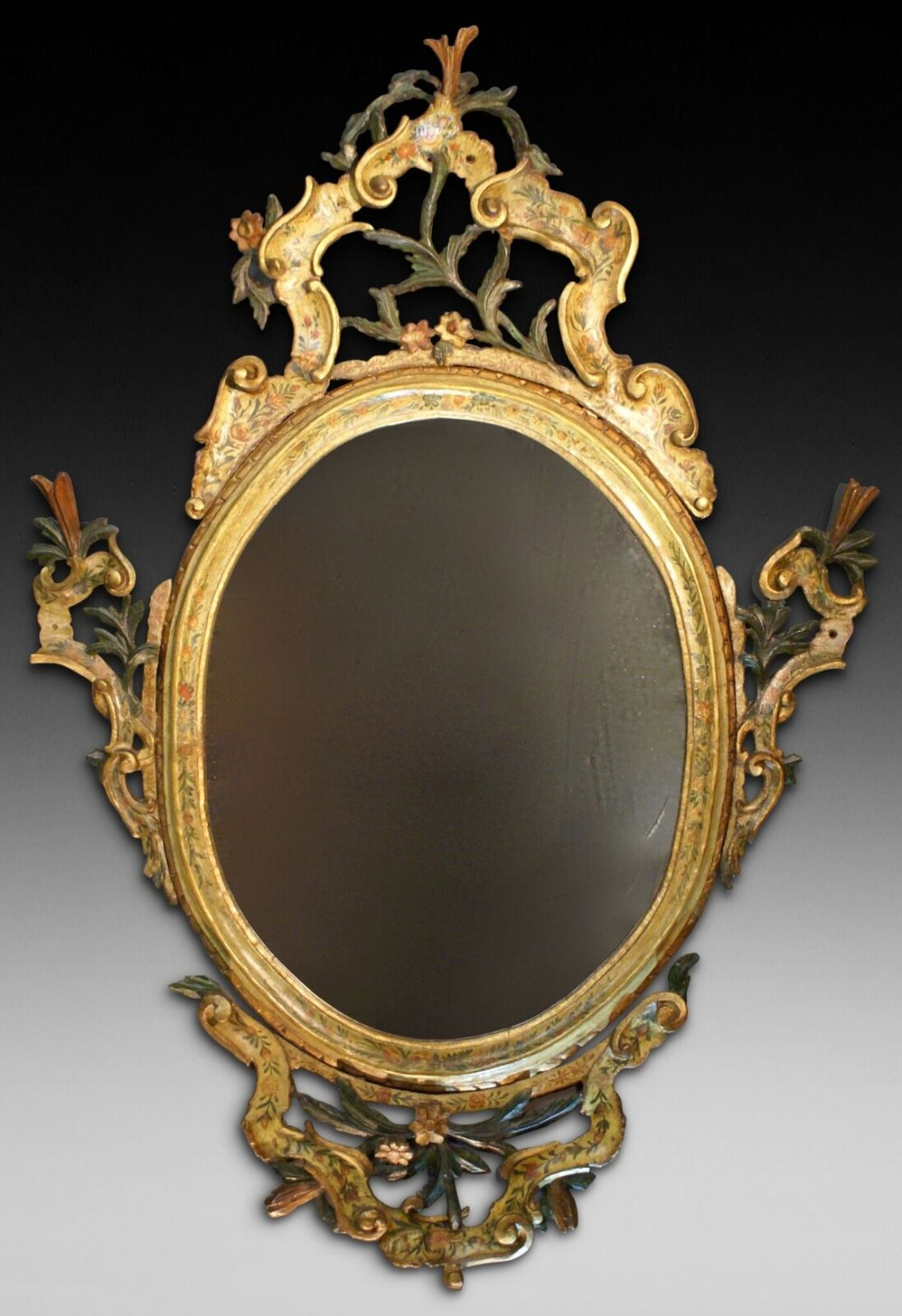 a rare 18th century venetian mirror