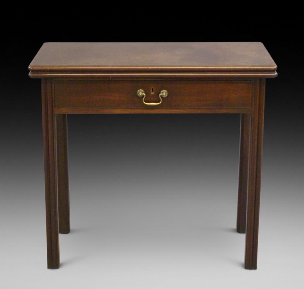 a george iii cuban mahogany tea table