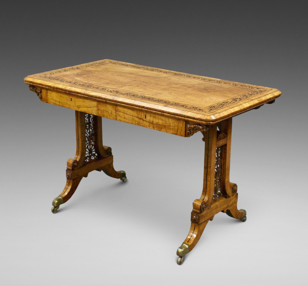 an exceptional olive wood table attributed to town emanuel