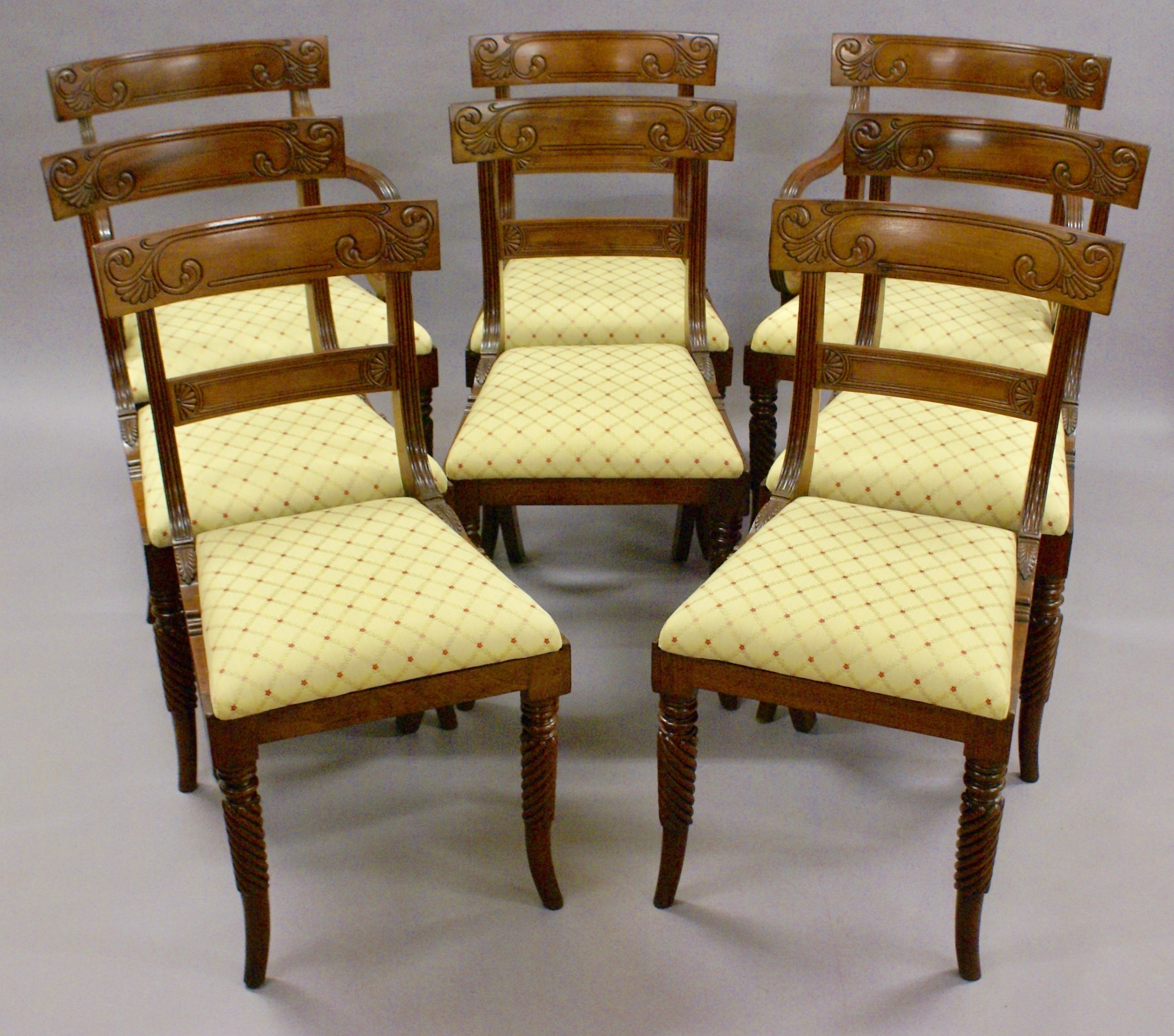 a fine set of 8 chairs attributed to gillows