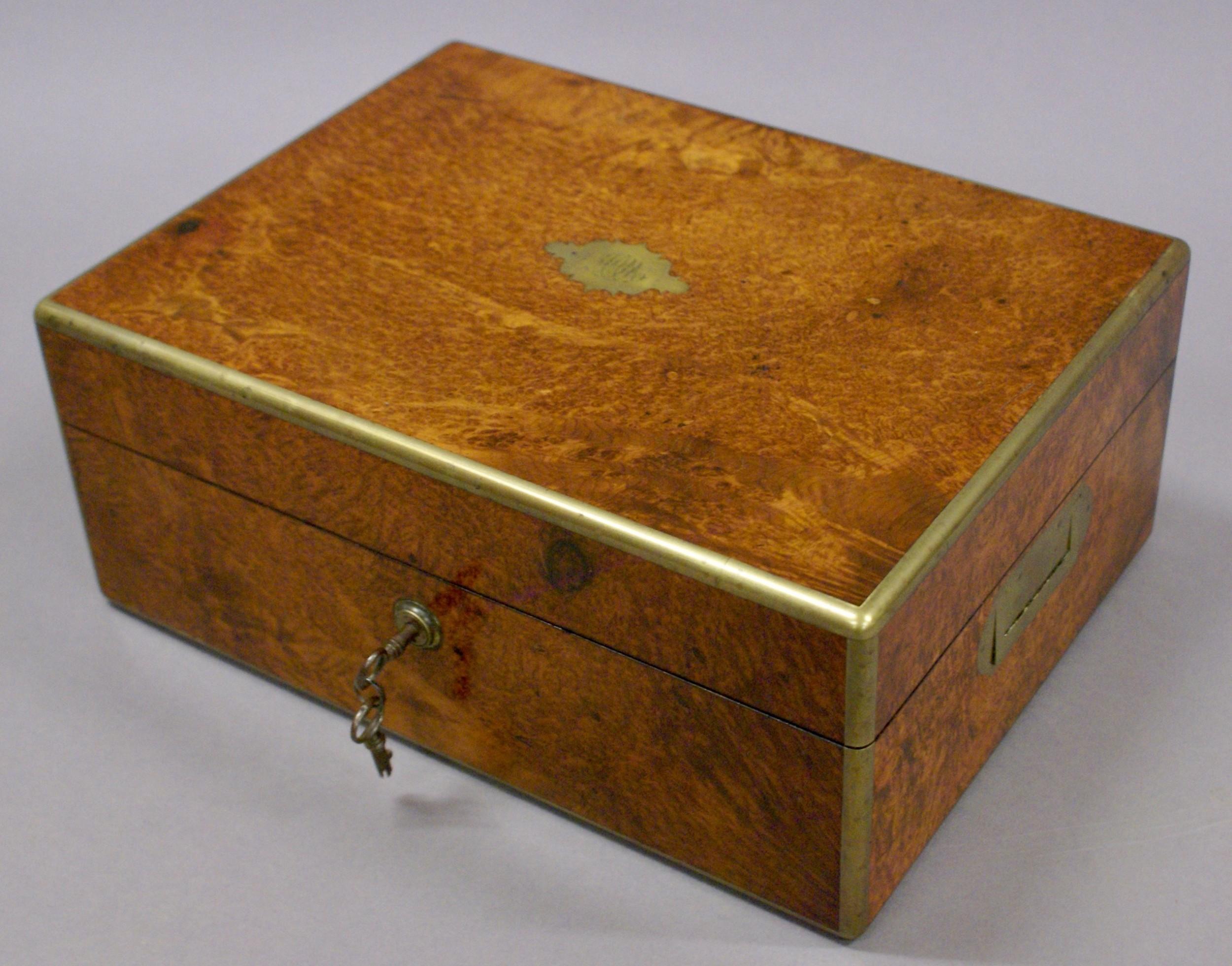 a superb amboyna dressing box