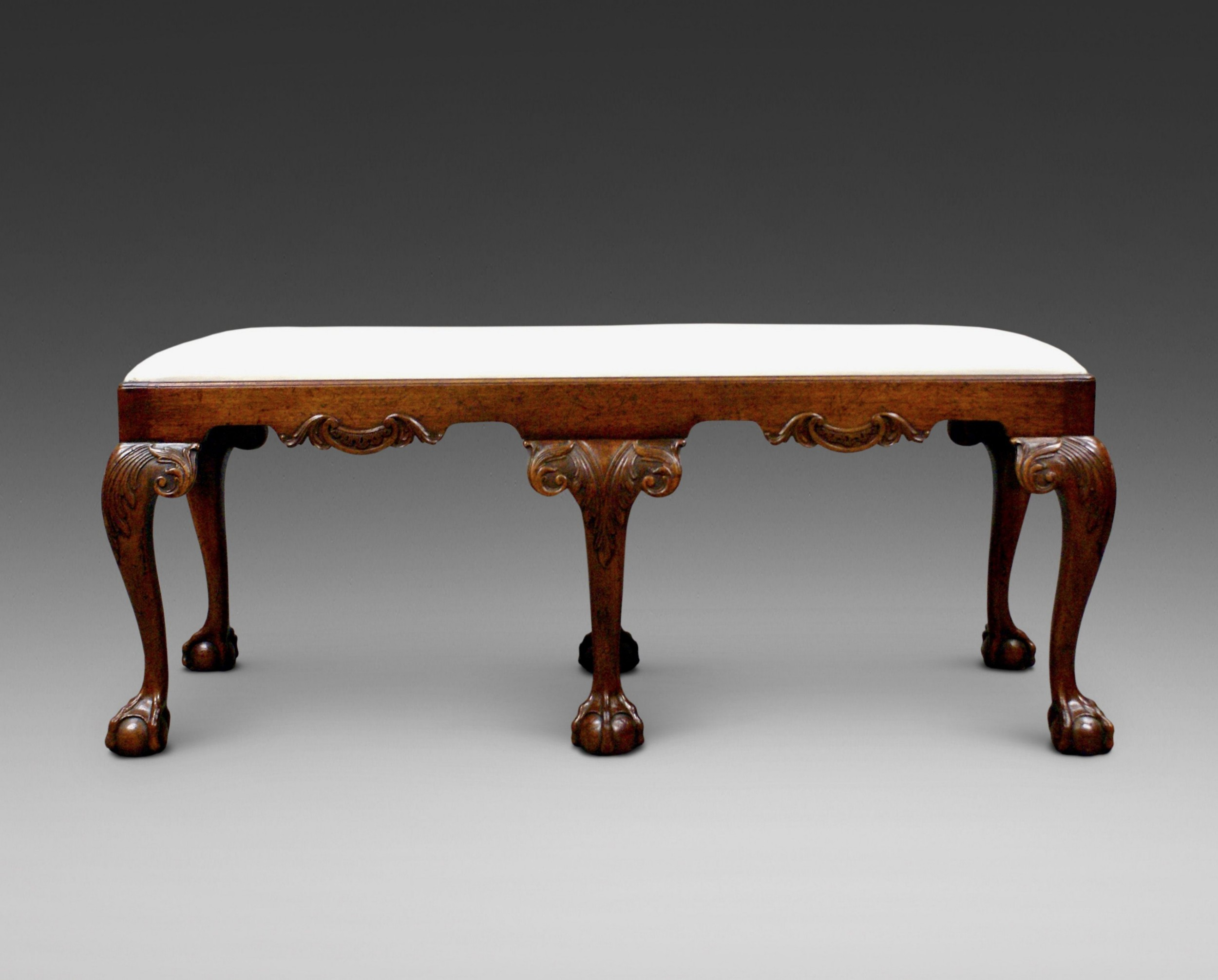 a late 19thc george ii style stool