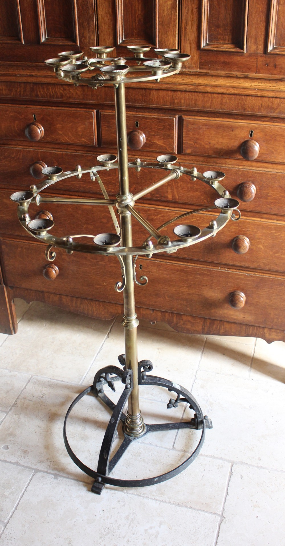 late 19th early 20th century gothic revival candle stand